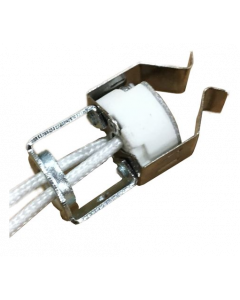 Porcelain Halogen Socket - G4/GX5.3/G6.35 WITH Retaining Clip