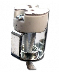 Porcelain Halogen Socket - G4/GX5.3/G6.35 WITHOUT Retaining Clip
