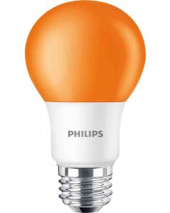 Philips 463232 A19 LED Bulb - BC8A19/LED/ORANGE/ND 120V