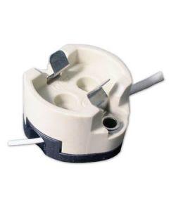 GU6.5 Base Ceramic Socket with Leads