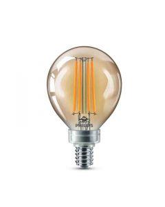 Philips 537597 Dimmable G16.5 LED Bulb - 4.5G16.5/VIN/820/E12/CL/GL/DIM 4/BC T20 120V