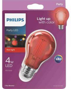 Philips 538207 A19 LED Bulb - 4A19/LED/RED/G/E26/ND 6/1BC 120V