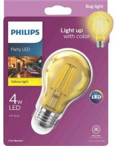 Philips 538223 A19 LED Bulb - 4A19/LED/YELLOW/G/E26/ND 6/1BC 120V