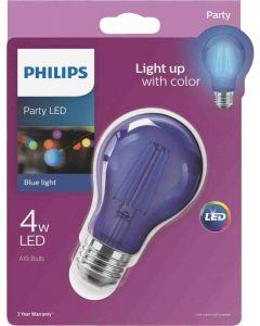 Philips 538231 A19 LED Bulb - 4A19/LED/BLUE/G/E26/ND 6/1BC 120V