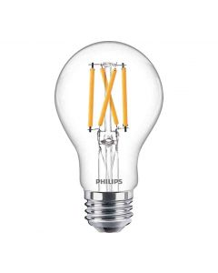 Philips 549238 Dimmable A19 LED Bulb - 8.8A19/PER/950/CL/G/E26/DIM 1FB T20 120V