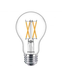 Philips 549493 Dimmable A19 LED Bulb - 8A19/PER/927-922/CL/G/E26/WGX 1FB T20 120V