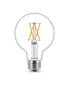 Philips 549519 Dimmable G25 LED Bulb - 5.5G25/PER/927-922/CL/G/E26/WGX1FB T20 120V