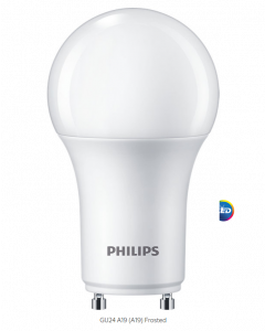Philips 557660 Dimmable A19 LED Bulb - 8.8A19/PER/930/P/GU24/DIM 6/1FB T20