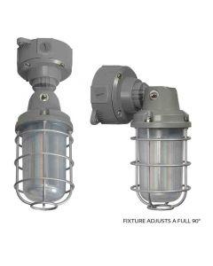 Nuvo 65-173 LED Adjustable Vapor Tight Fixture; 20 Watt; 5000K; Gray Finish; 100-277 volts