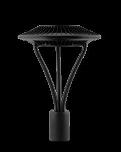 RAB Area Light 78W Cool LED 5T Clear Lens Black | BulbsDepot.com