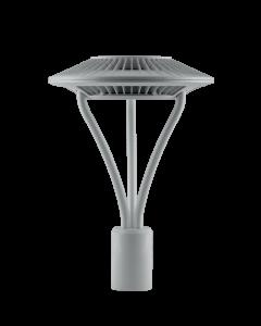 RAB Area Light 78W Cool LED 5T Clear Lens Gray | BulbsDepot.com