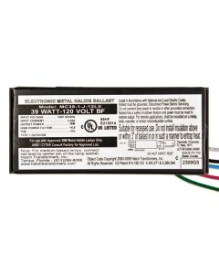 Hatch Nano MC39-1-J-12LX   39 Watt Electronic Metal Halide Ballast - *DISCONTINUED* SEE the MC39-1-F-12LX as Possible Replacement
