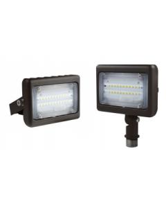 Blue Moon 15 Watt  Premium Multi-Purpose LED Area Light - Yoke Mount - 3000K - 1593 Lumens - 120-277V - Bronze