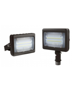 Blue Moon 15 Watt  Premium Multi-Purpose LED Area Light - Yoke Mount - 5000K - 1624 Lumens - 120-277V - Bronze
