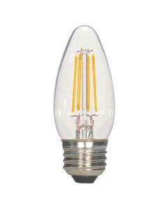 Satco S9567 LED C11 Bulb - 2.5W ETC/LED/27K/120V