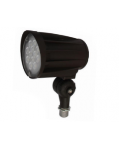 Blue Moon 28 Watt LED Landscape Security Flood Light 3000K - 120-277V - 2724 Lumens - Bronze