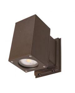 "Nicor OWCQ4U1033MV50BZ  Dorado 4"" Square LED Cylinder Fixture - 33 Watts/ 3489L - 5000K - Bronze"
