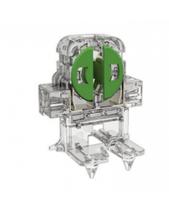 T5 Miniature Bi-Pin - Unshunted, Rotary locking lamp holder with bottom spit pin mounting - LH0883