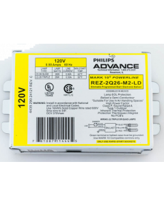 Advance Mark 10 REZ-2Q26-M2-LD  CFL Electronic Dimming Ballast