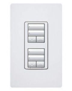 Lutron RRD-W2RLD-WH - RadioRA2 Wall Mount Designer Keypad