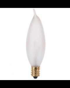 Satco S3277 - 15CA8/F  15 Watt CA8 Frosted Candelabra Bulb