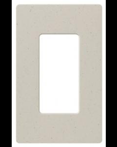 Lutron SC-1-LS Claro 1 Gang Wallplate Limestone