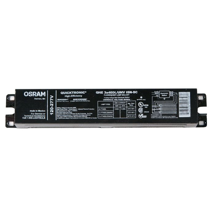 Case of 10 Sylvania 51480 QUICKTRONIC QHE4x54T5HO//UNV 4 Lamp T5 Programmed Rapid Start Ballast